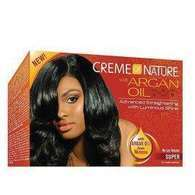 Creme of Nature Relaxer Kit Super con Aceite de Argán