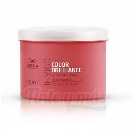 Mascarilla Invigo Color Brilliance Cabello Fino y Normal 500ml. Wella.