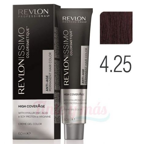 Revlon Revlonissimo High Coverage 4.25 Castaño Medio Chocolate 60ml.