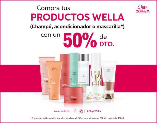 Promocion Wella Julio-Agosto Champús, Acondicinadores y Mascarillas